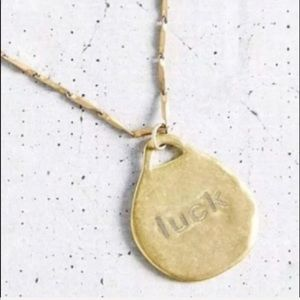 "Urban Outfitters Golden ""LUCK"" Necklace"